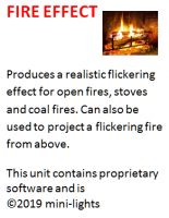 Fire flicker effect unit