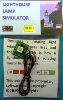 Lighthouse simulated rotating lamp effect unit